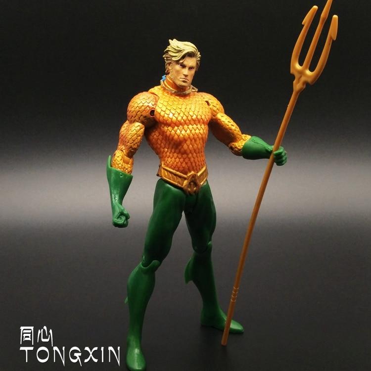 Justice League Batman  Aquaman Wonder Woman PVC Action Figures Cyborg Figurines Dolls Kids Toys