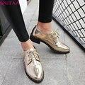 QUTAA 2017 Mujeres Bombea Verano de las Señoras Atan Para Arriba Zapatos Cuadrados de Tacón bajo de La Borla de La PU de Cuero de Moda Mujer, Zapatos de Boda de Tamaño 34-43