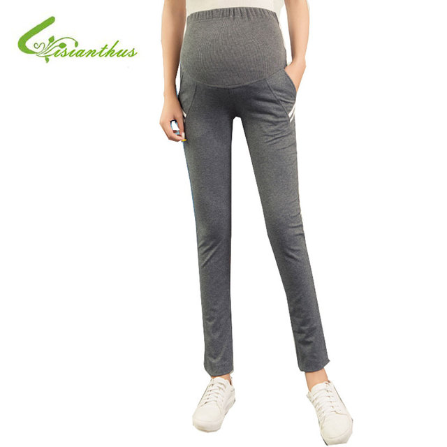 Elastic Waist Maternity Leisure trousers Pregnancy Cotton Straight Pants Comfortable Maternity Clothes for Pregnant Women 2016
