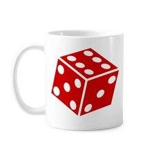 Классическая кружка с ручкой 350 мл, белая керамическая кружка с рисунком для иллюстрации в виде красных кубиков