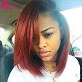 Бразильские Прямые Человеческие Волосы Черный И Бордовый Бразильские Волосы 2 Тон Бразильского Виргинские Ombre Hair Связки Sassy Girl Волос