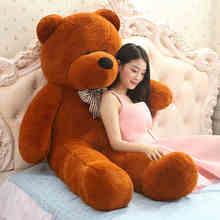 2016 High quality 200cm Giant teddy bear soft plush toys Life size stuffed Children peluches Christmas g