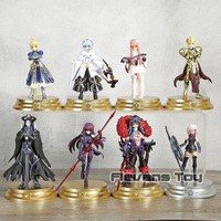 Fate Grand Order Duel First Release Altria Pendragon Gilgamesh Mash Kyrielight Cu Chulainn PVC Action Figures Toys 8pcs/set