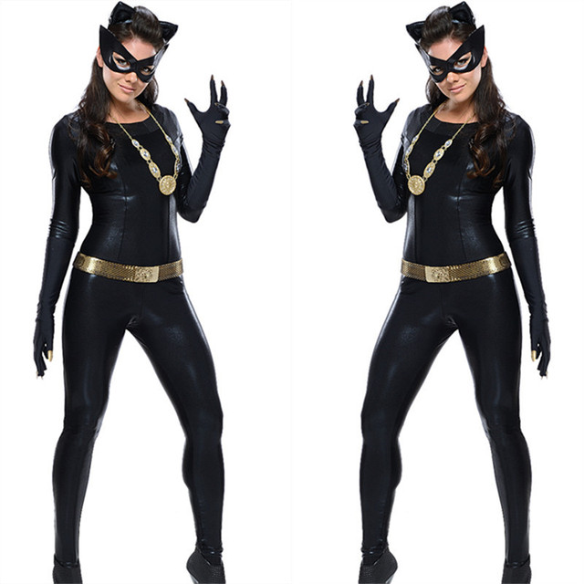 classic 1966 batman tv series grand heritage catwoman costume new halloween suit sexy catwoman costume black