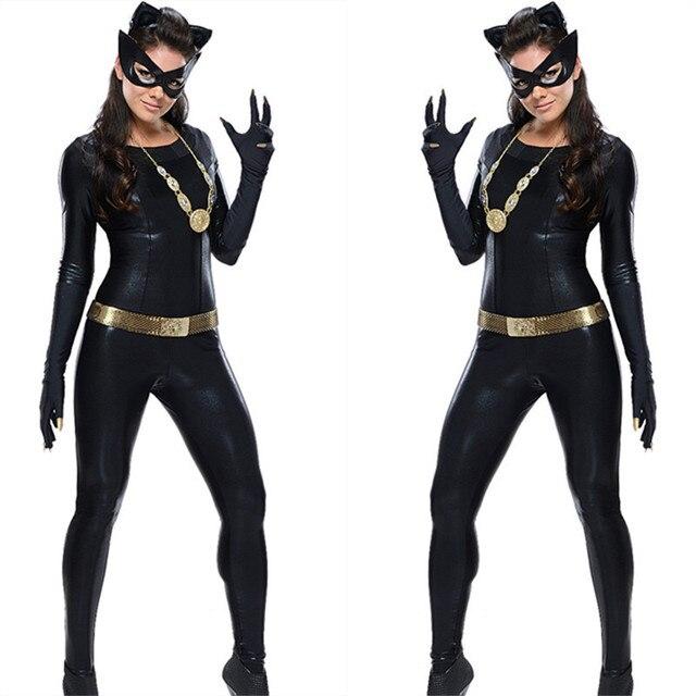 klassische 1966 batman tv serie grand heritage catwoman kostum neue halloween anzug sexy catwoman kostum schwarz