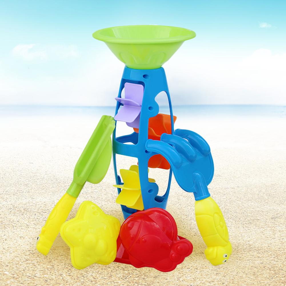 5 Pcs Beach Toys Set Children Play Sand Digging Sand Assembly Beach Hourglass Summer Beach Toys For Children Sand Play Suit