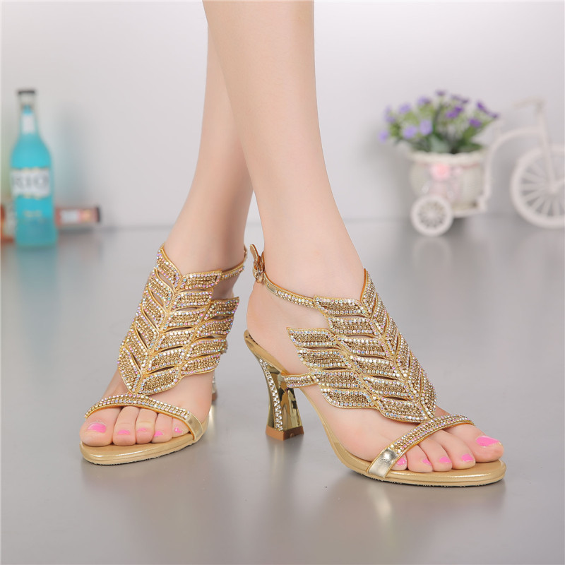 G-SPARROW 2017 Summer New Female Diamond Peep Toe Wedding Shoes Non-slip Sexy Korean Ladies Gold High Heel Sandals 8cm настольная игра hobby world колонизаторы купцы и варвары 1129