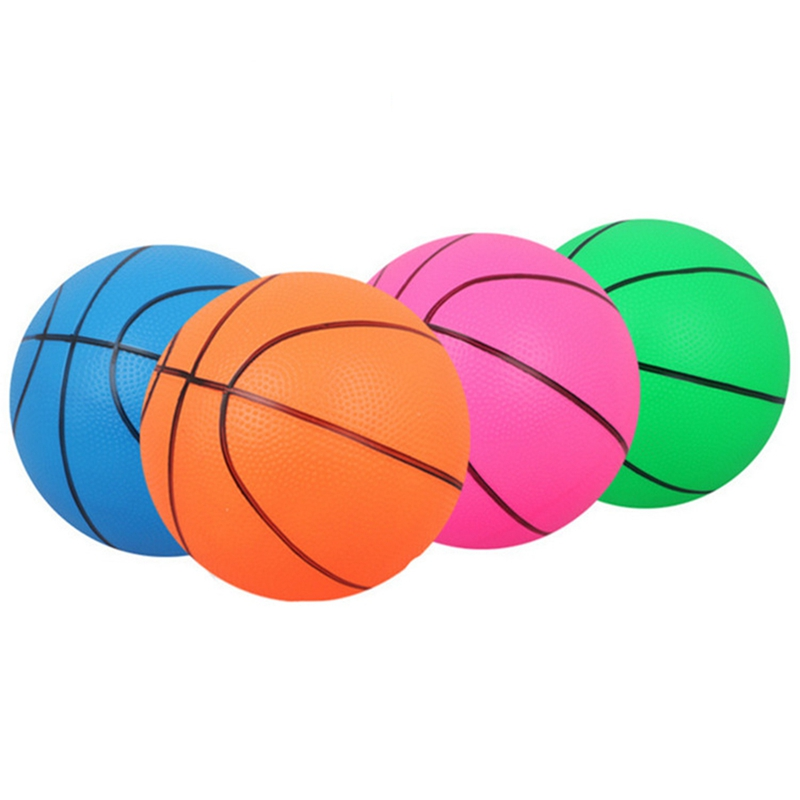 1 Pcs Color Random PVC Beach Ball Toy Baby Inflation Basketball Sport Indoor Outdoor Kids Toys Outdoor Fun Sports Inflator Ball