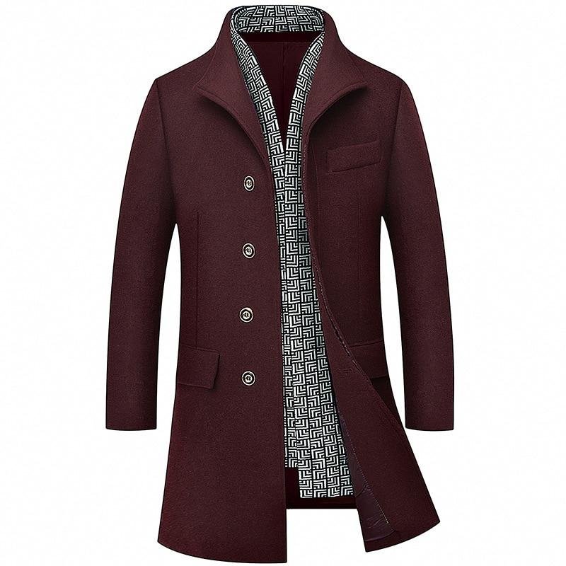 manteau long homme hiver 2015 single breasted pea coat 4xl. Black Bedroom Furniture Sets. Home Design Ideas