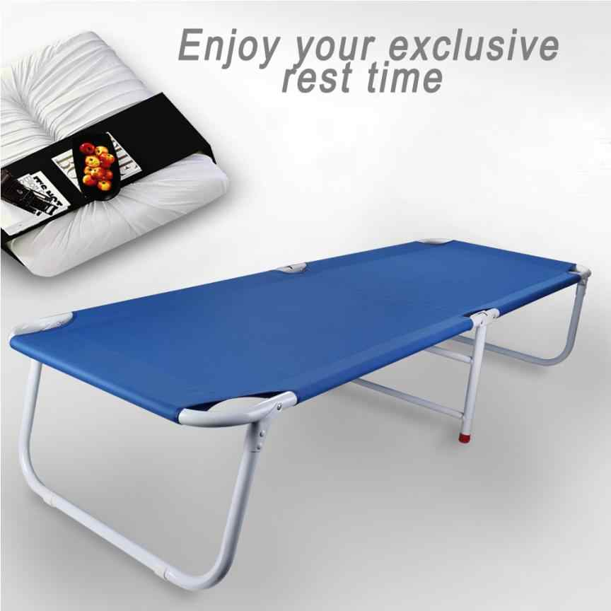 Folding Single Bed Folding Office Napping Bed Folding Bed Outdoor Camp Bed