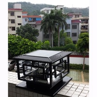 D30*H25cm Led Outdoor Solar Powered Garden Lamp Decoration Pillar Lamp Rechargable Gate Solar Garden Light Free Shipping 1pc
