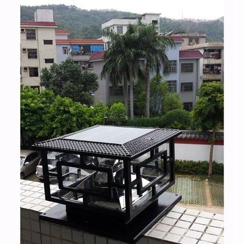 d30 h25cm led ao ar livre lampada de jardim movido a energia solar decoracao pilar