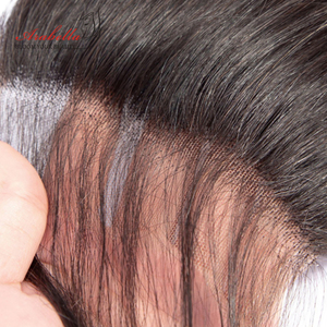 Image 1 - 6*6 Lace Closure Brazilian Straight Closure Natural Color Arabella Remy Hair Pre Plucked Bleached Knots Closure With Baby Hair