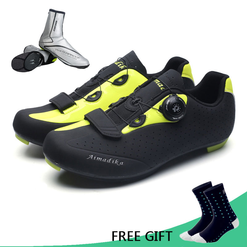 JOSPOWER MTB Road Cycling Shoes TPU Wear Resisting Breathable Bike Shoes Auto Locking Athletic Bicycle Shoes