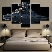 5 Pieces Sunset Ocean ships Canvas Painting Landscape Posters Modern for Living Room Home Decor Wall Art Frame(China)
