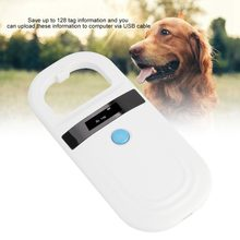 ISO FDX-B Pet RFID Chip Reader Wiederaufladbare OLED Tragbare Tier Chip ID Scanner Microchip Scanner Pet Tag Scanner für Hund katze(China)