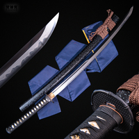 Samurai Tanto Clay Tempered 1095 Carbon Steel Fully Handmade Clay Japanese Shirasaya Samurai Katana Sword