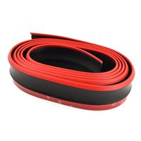 2 5M Car Front Lip Skirt Black Red Protector Car Scratch Resistant Rubber Bumpers Soft Strip