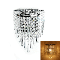 Modern Art High Grade Crystal Wall Lamp For Home Bedroom Living Room Decoration Indoor Lighting European Luxury Style