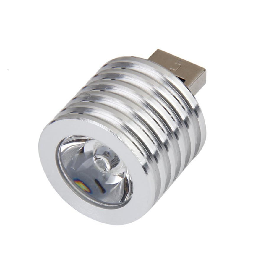 1.75W DC5V USB led night light Aluminum portable Spotlight 27mm led Flashlight for PC computer, Laptop