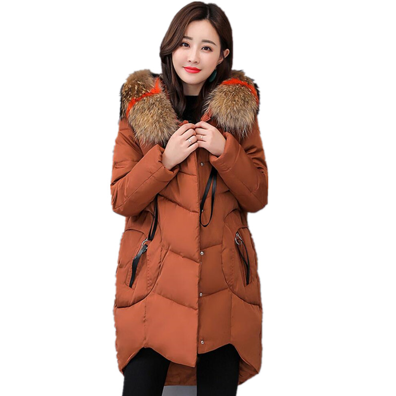 Plus Size winter Jacket women Coat 2019 New 6XL Large Size Womens Jackets Hooded Long Coat Female   Parkas   Winter Outwear G176
