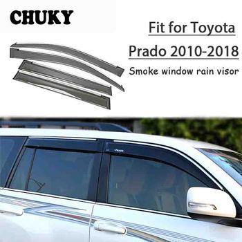 Chuky 4pcs Car Styling Window Visors Awnings Shelters Rain Shield For Toyota Prado J150 2010-2015 2016 2017 2018 Accessories
