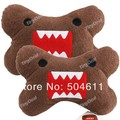 Free shipping 2 x Comfortable Domo Style Plush Headrest Head Cushion Pillow Neck Guard for Car Vehicle Automobile