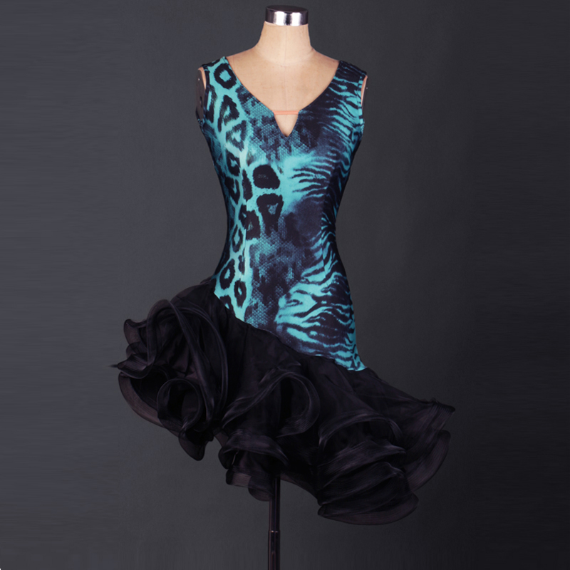 New arrival Latin dance costume sexy spandex sleeveless latin dance dress for women latin dance dresses