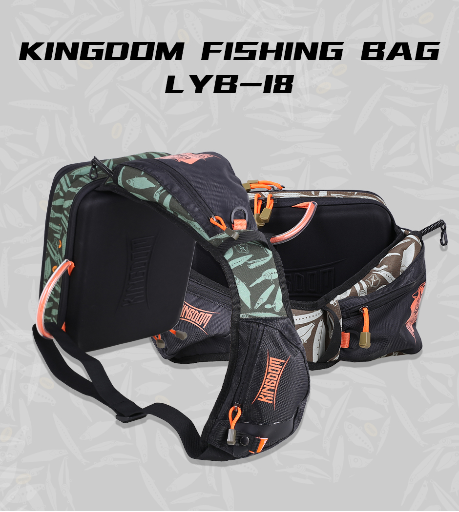 Kingdom 2019 New Waterproof Fishing Bag Large Capacity Multifunctional Fishing Lure Box Tackle Backpack Outdoor Shoulder Bags 7