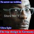 Ультра-легкие очки кадр ThomBrowne нержавеющей стали ужин тонкий близорукость очки кадров мужчин бренд с оригинальным случае