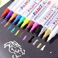 12 cores À Base de Óleo À Prova D' Água Do Piso Do Pneu Pneu de Carro De Metal CD 10mm Grafite Marcadores de Tinta Permanente Marcador Permanente Metálico caneta