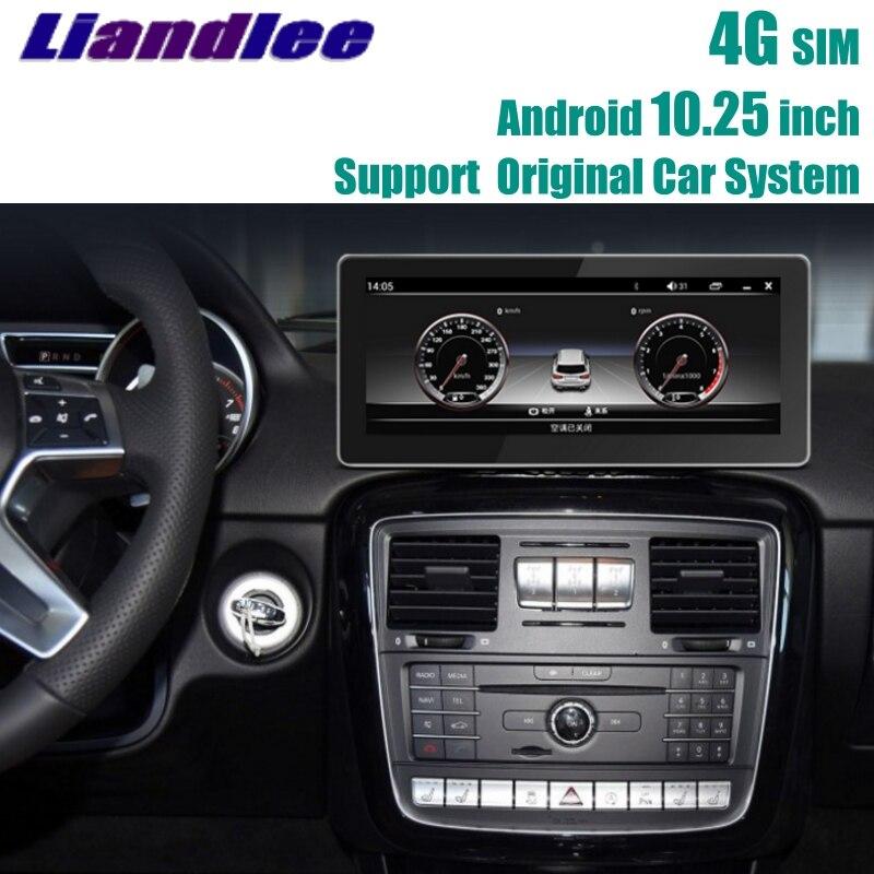 Liandlee Voiture Lecteur Multimédia NAVI Pour Mercedes Benz MB G Classe G63 G350 G500 W463 2012 ~ 2018 Voiture Radio stéréo GPS de Navigation