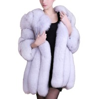 Ladies High Quality Female Fake Fur Jacket Furry Luxury Faux Fur Coat Jacket Women Fur Coat Winter Long Coats