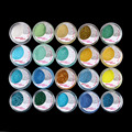 20 Mixed Color Glitter Powder Eyeshadow Makeup Eye Shadow Cosmetic SALON SET #6