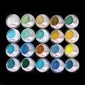20 Mixed Color Glitter Powder Maquillaje de Sombra de Ojos Sombra de Ojos ESTUDIO Cosmético SET #6