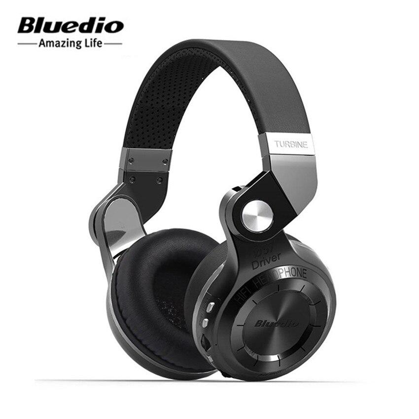 Meilleur Casque Sans Fil Pliable Casques Bluedio T2 + (Plus) Bluetooth HIFI Stéréo Basse Casque Écouteurs avec Micro TF carte FM