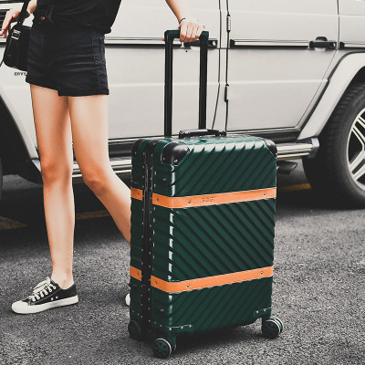 20/24/26/29-inch Fashion High-end Universal Wheel Password Aluminum Frame Rod Luggage Travel Box Factory Outlets CD50