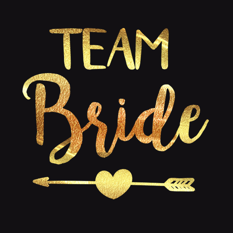 10Pcs Bride To Be bridesmaid Team Bride Bachelorette Tattoos Bridal Shower Gold Stikcers Wedding Party Deco Supply