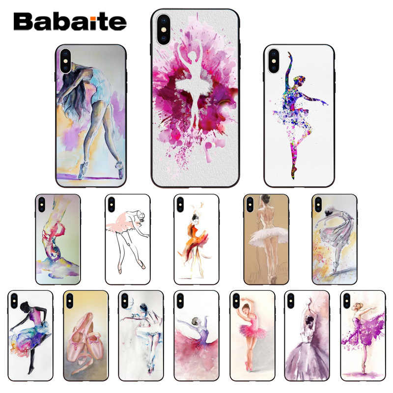 Babaite Oil painting art Ballerina girl dancing Silicone Soft TPU Phone Case Cover for iPhone 8 7 6 6S Plus 5 5S SE XR X XS MAX