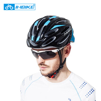 INBIKE Bicycle Helmet Ultralight Comfortable Men Women Cycling Helmet MTB Road Bike Integrally Molded Helmet Bike