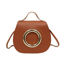 New Women Ladies PU Leather Cross Body Bag Girls Fashion Metal Ring Shoulder Handbag Purse Messenger Tote(China)