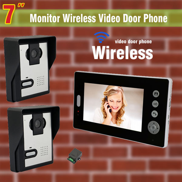 Wireless Video Intercom System 7 Inch Video Door Phone Doorbell