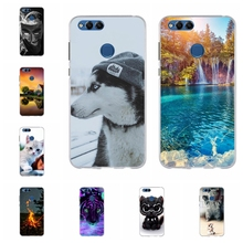 For Huawei Honor 7X BND-L21 BND-L22 Cover TPU BND-L24 Mate SE Case Cat Pattern BND-AL10 BND-TL10 Shell