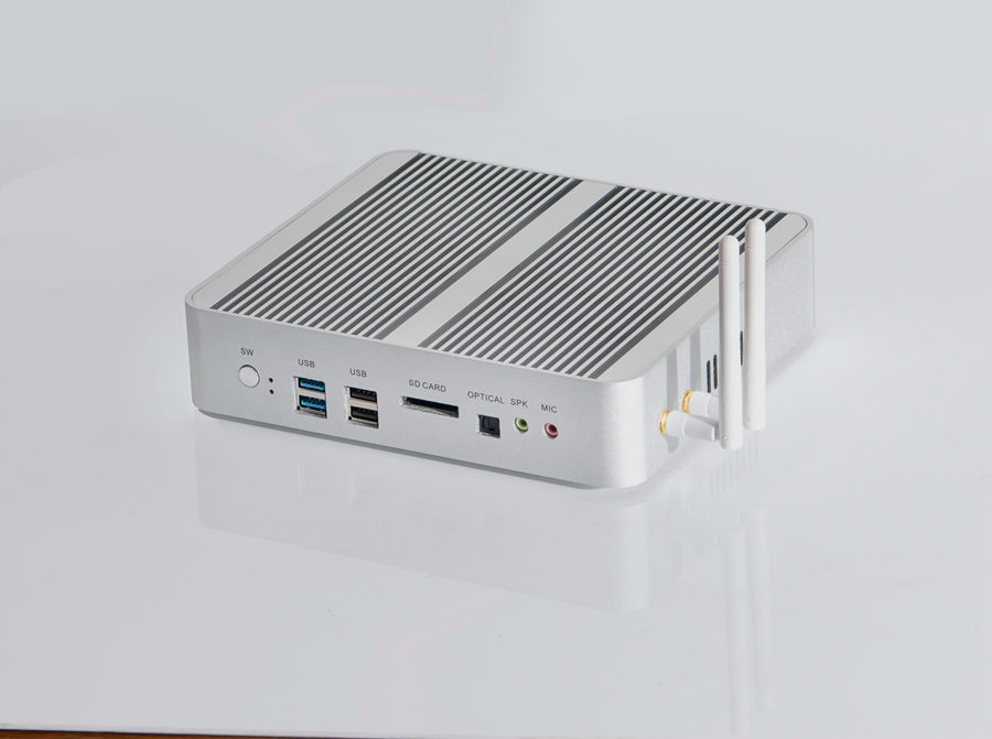 Image 2 - New KabyLake Intel Core i5 7260U i7 7560U/7565U 3.4/3.8GHz Fanless Mini PC Optical port 2*lan Iris Plus Graphics 640 DDR4-in Mini PC from Computer & Office
