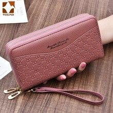 women's wallet portfel damski purse female Double Zip