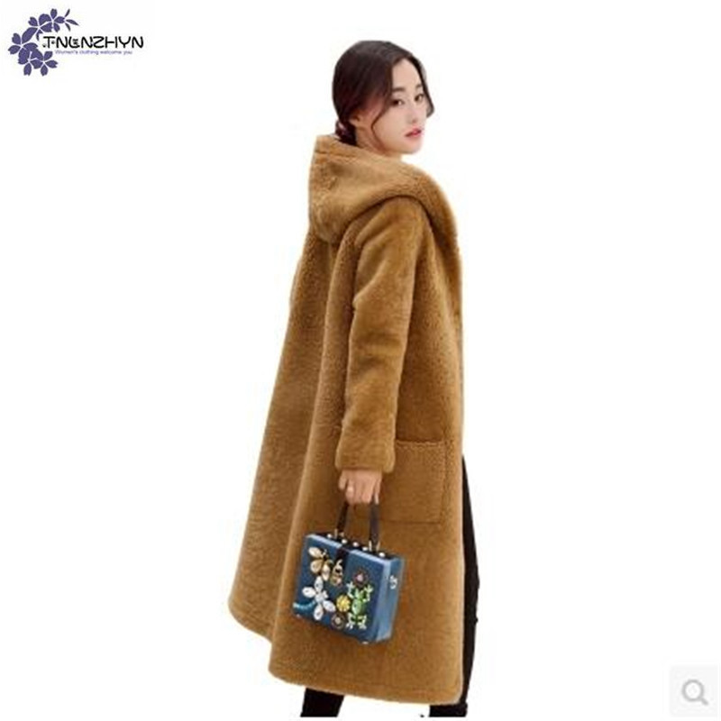 TNLNZHYN Women clothing Cotton coat winter New Fashion leisure Large Size Long sleeve Thickening warm hooded female coat QQ110 winter cotton outerwear female slim long section coat women cotton leisure hooded fur collar large size women coat okxgnz qq943