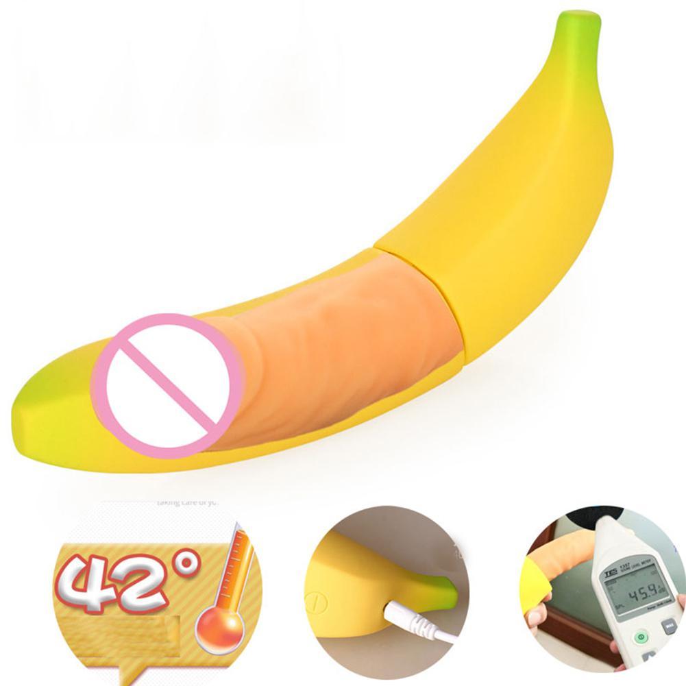 RABBITOW USB Rechargeable g-spot Gode Réaliste Vibrateur Banane Climax Vibrateur Sex Toys pour Femmes