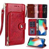Etui portefeuille en cuir pour Xiao mi rouge mi 6A Note 7 Pro note 5 6 pro 5A 4X S2 Coque pour Xiao mi 8 SE A2 lite A1 Poco F1 Funda