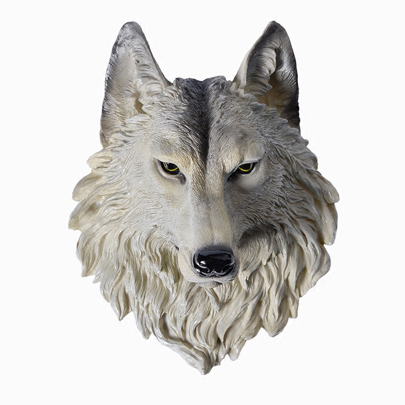 Wall-Decoration Animal-Head Home-Accessories Best-Gift Resin Wolf Pendant Hanging-Wall