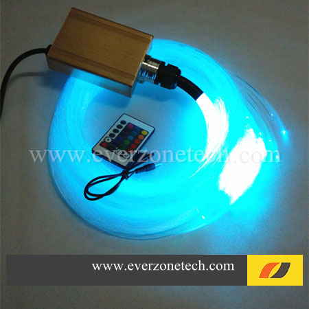 Kits de lumière optique de fibre de vente chaude FY-3-005 LED de fibre optique 4m 300pcs 0.75mm de DIY